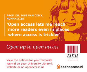 Pro. Dr. José van Dijck, Humanities: Open access lets me reach more readers even in places where access is trickier.'