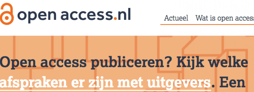 Tip 2: 100% Open Access through the VSNU agreements with publishers.